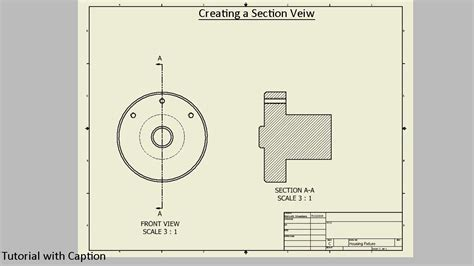 sectional view creating a section view autodesk inventor youtube