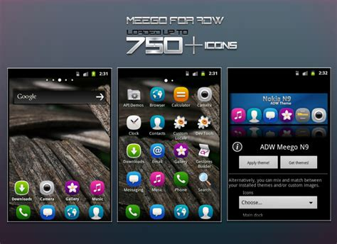 themes nokia n9 meego nokia n9 adw theme preview by hpluslabels on
