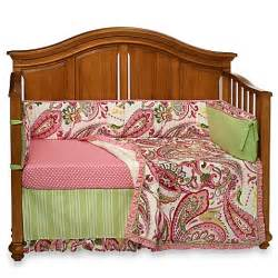 Pink Baby Cribs For Sale My Baby Sam Paisley Splash In Pink 4 Crib Bedding Set Buybuy Baby