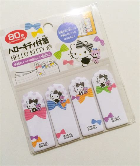 Sticky Notes Hello Cat Sno039 hello sticky tabs colorful bows sanrio page markers from pasokuma on etsy studio