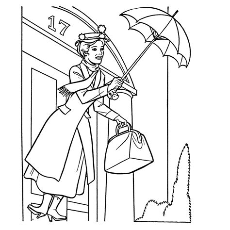 mary poppins coloring pages lygwela disney pinterest