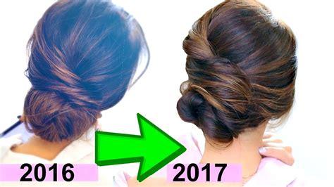 2 minute elegant bun hairstyle totally easy hair tutorial 2 minute elegant bun hairstyle easy updo hairstyles video