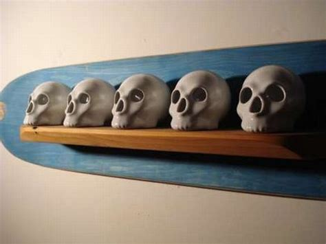 Skull Shelf by Skateboard Skulls Scary Shelves To Keep The