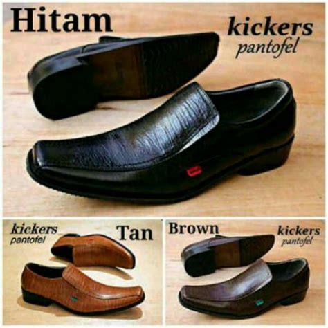 Sepatu Kickers Slop Kulit 6 sepatu kickers pantofel murah kulit asli kantoran kerja