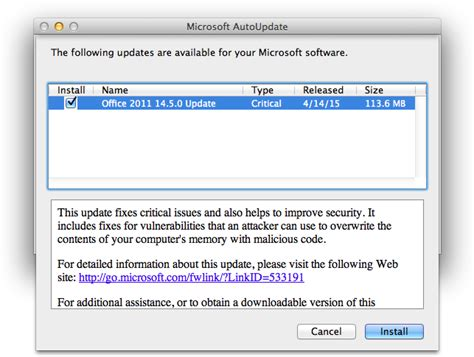 microsoft pushes office for mac 2011 14 5 0 update