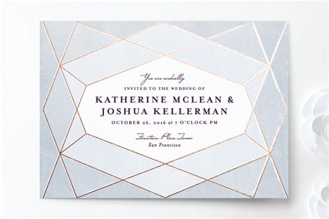 printable geometric stationery top 8 geometric wedding invitations pretty modern