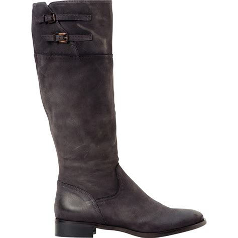 nadine grey flat leather boots paolo shoes