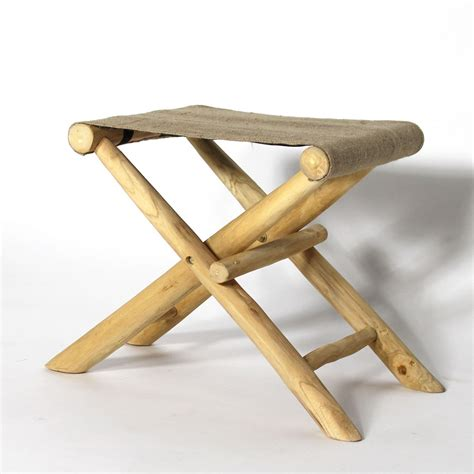 Tabouret Bar Pliable by Tabouret Pliable Teck Et Toile De Jute Made In Meubles