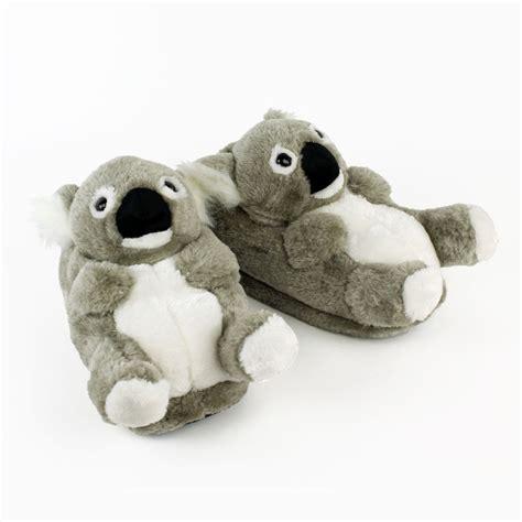 animal slippers koala slippers gray animal slippers