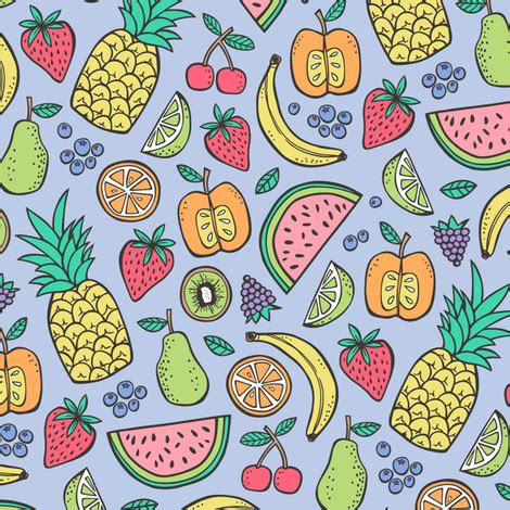 summer fruit on purple with pineapple,strawberry