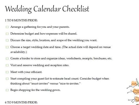 wedding calendar template calendar wedding checklist 187 template