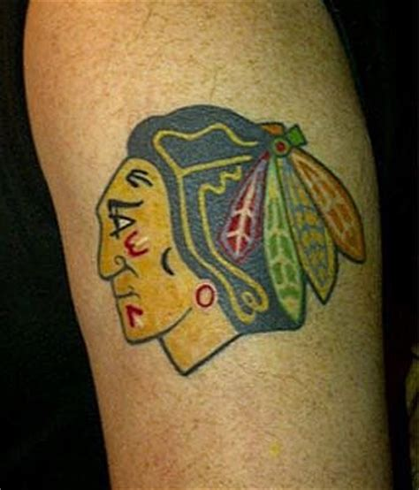 chicago blackhawks tattoo blackhawks tatouages