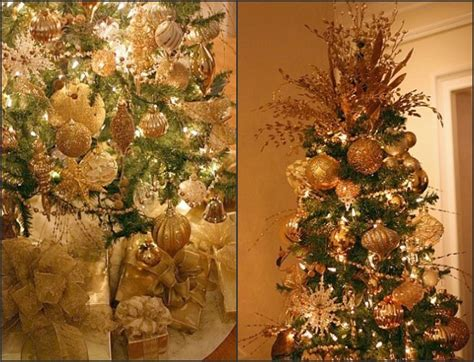 mesmerizing golden christmas tree decoration