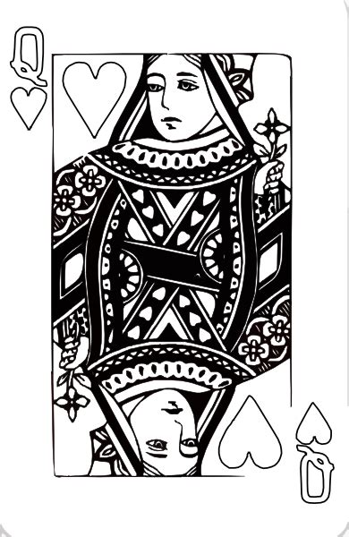 coloring page queen of hearts deck of cards king coloring pages coloring pages