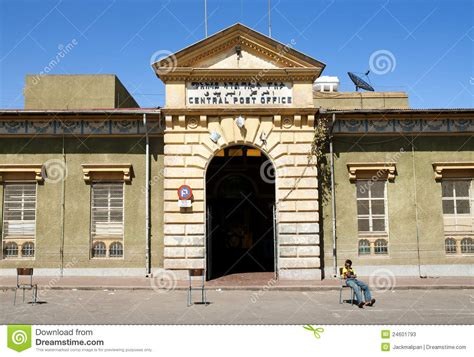 ufficio postale centrale ufficio postale centrale a asmara eritrea fotografia stock