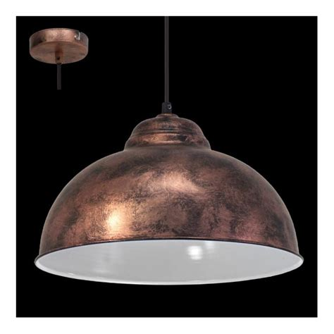 Eglo 49248 Truro2 1 Light Ceiling Pendant Antique Copper Copper Ceiling Lights Uk