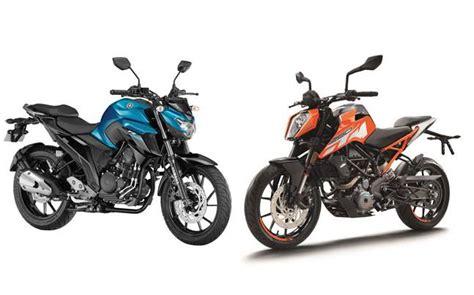 Yamaha Mt 25 250cc ktm 250 duke vs yamaha fz 25 auto news