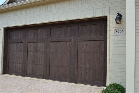 Wood Stained Garage Doors Homes Wood Cedar Garage Door Stained In A Brown A Beautiful Accent To The