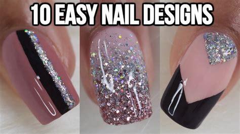 easy nail art compilation 10 easy nail ideas nail art compilation doovi