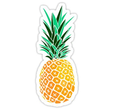 """""""artsy pineapple"""" stickers by marchiemadness 