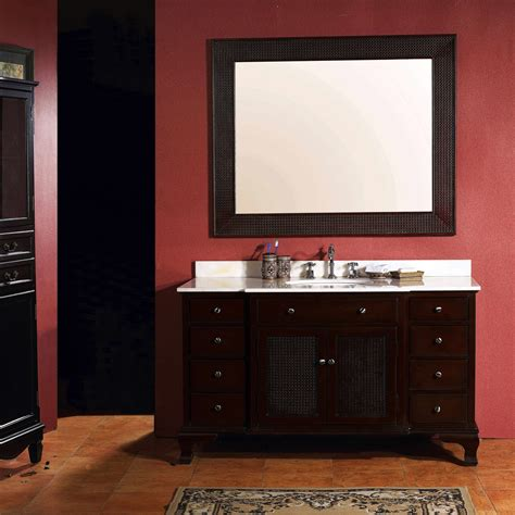 bathroom vanity wall mirrors modern square vanity wall mirror with dark brown lacquered oak wood frame of