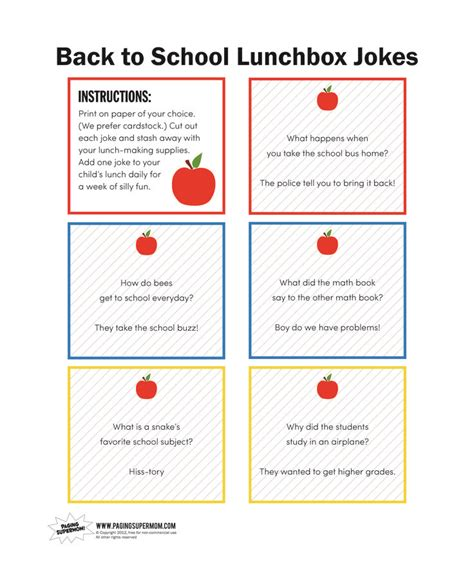 printable school jokes back to school lunchbox joke printable paging supermom