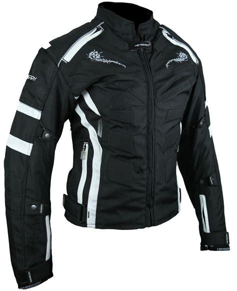 Motorradbekleidung Damen Textil by Heyberry Damen Motorrad Jacke Motorradjacke Textil Schwarz