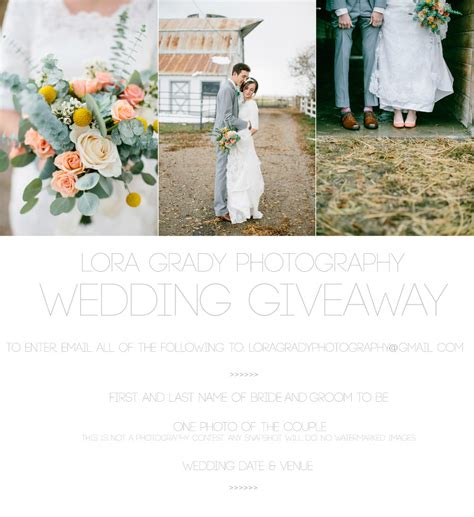 Wedding Photography Giveaway - lora grady photography wedding giveaway lora grady