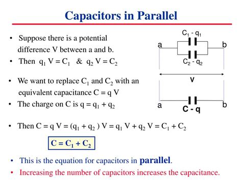 charge on capacitors in parallel ppt capacitors in circuits powerpoint presentation id 6906