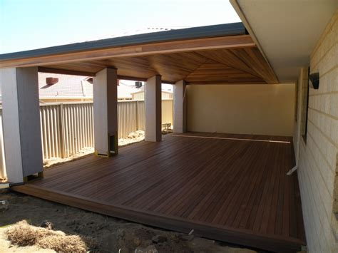 this timber deck and timber ceiling decks