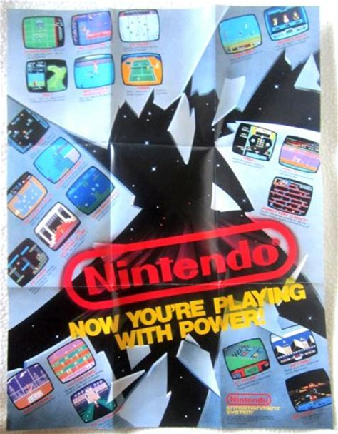 playing with power nintendo nintendo now you re playing with power poster