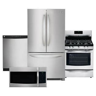 kitchen appliance suites stainless steel kenmore kenmore 4 piece kitchen package stainless steel