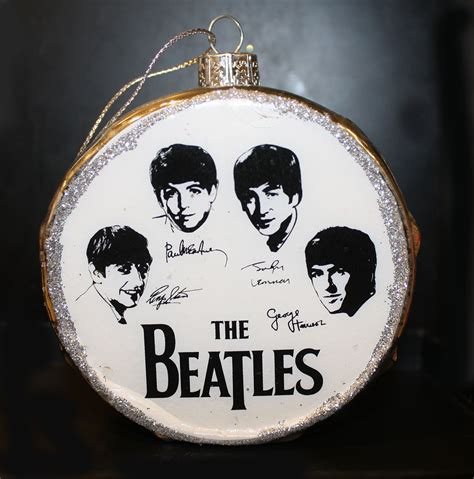 glass beatles silver drum ornament gift man
