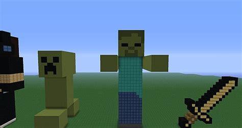 minecraft tutorial zombie statue minecraft statues minecraft project