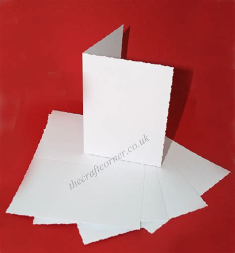 blank cards and envelopes for card 5 c6 blank deckle cards envelopes from craft uk ltd