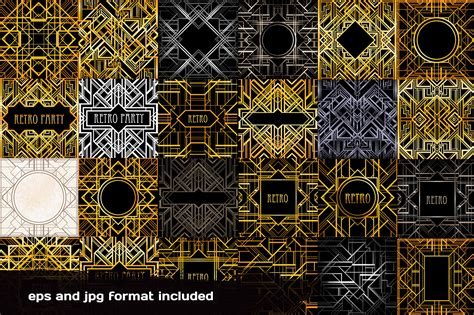 art deco frames and patterns patterns creative market art deco frames and patterns patterns on creative market