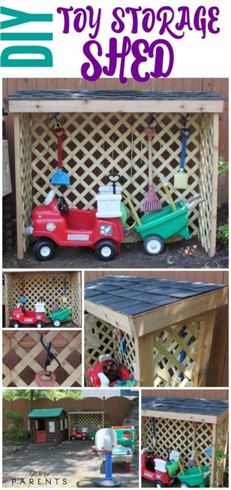 diy toy storage shed outdoor toys  kids diy outdoor