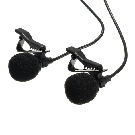 Microphone Clip On Audio System Rekording arimic dual clip on lapel microphone recording mic alex nld