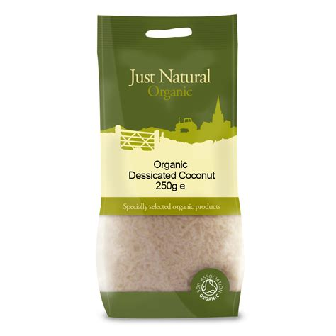 Dessicated Coconut 250g coconut desiccated 250g organic just organic