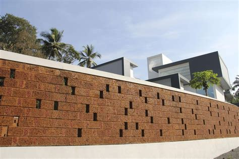 house wall the running wall residence lijo reny architects archdaily