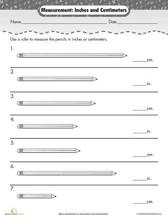 measurement mania centimeters inches teaching math