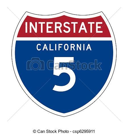 clipart of california interstate highway sign american