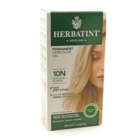 herbatint hair color herbal hair color 10n platinum by herbatint hair