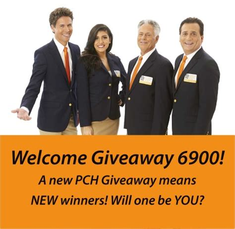 time to welcome giveway 6900 to publishers clearing house pch blog - Pch Giveaway 6900