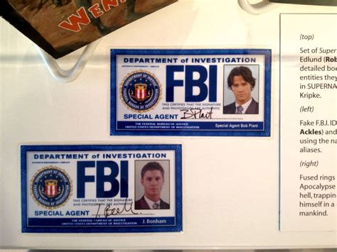 fbi id card template psd supernatural fbi id s supernatural