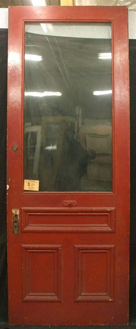 36 Quot X95 Quot Antique Exterior Entry Pine Door Large Wavy Glass Exterior Pine Doors