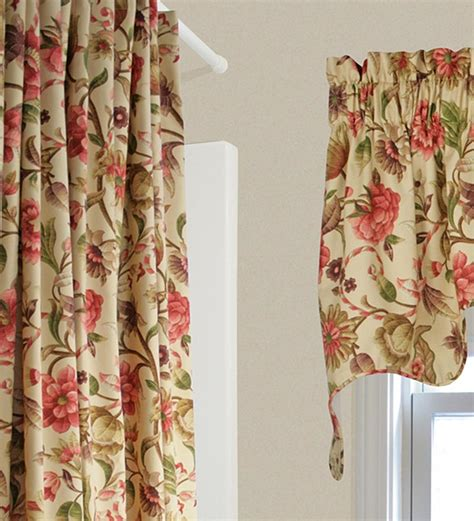 curtains flowers vareen floral empress swag collection accessories