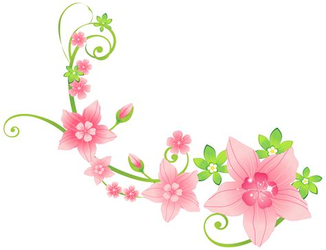 Floral Flowers by Floral Clipart Decoration Pencil And In Color Floral