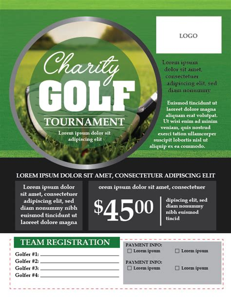 charity golf tournament flyer template adobe illustrator