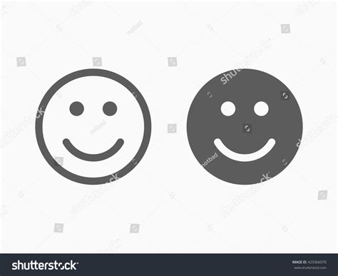 Flat Smile smile icon in trendy flat style isolated on grey